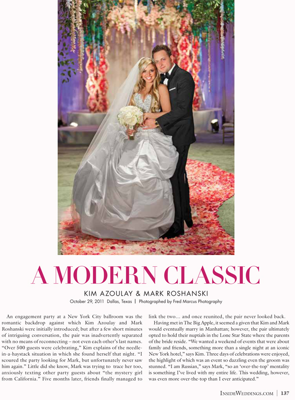 Inside Weddings Magazine Feature!
